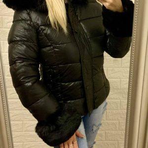 Szőrmés pufi kabát