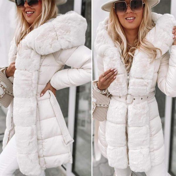 Szőrmés téli kabát